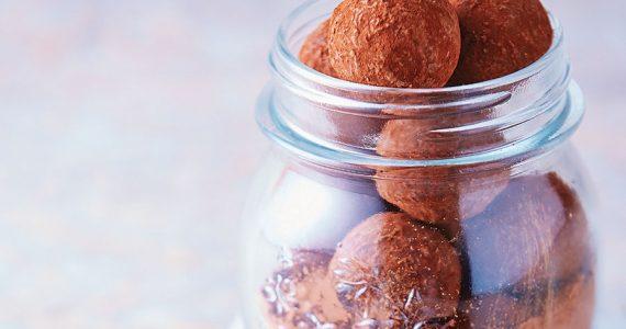 Trufas de jengibre y chocolate