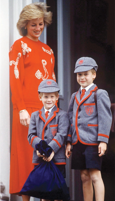 Diana de Gales, William, Harry