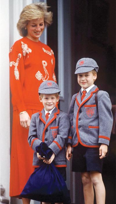 Diana de Gales, William, Harry