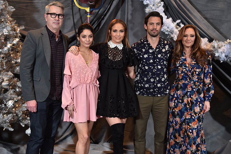 Peter Segal, Vanessa Hudgens, Jennifer Lopez, Milo Ventimiglia y Leah Remini