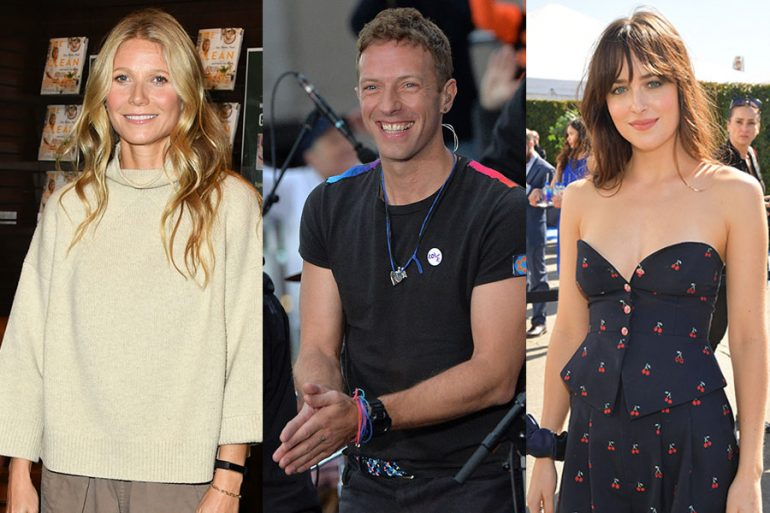 Gwyneth Paltrow, Chris Martin y Dakota Johnson