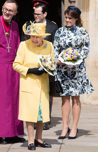 Princesa Eugenia y reina Isabel
