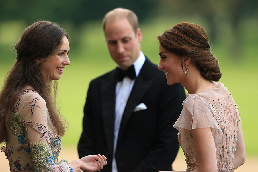 Kate Middleton, príncipe William y Rose Hanbury