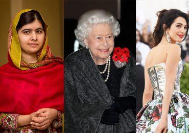 Malala, Isabel II, Amal Clooney, Rostros del feminismo