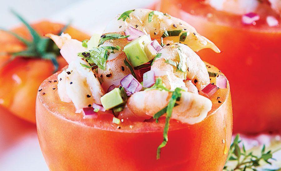 Ceviche de camarón en jitomate