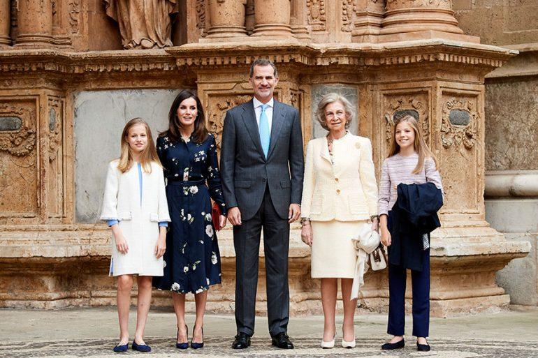 Misa de Pascua de la familia real española