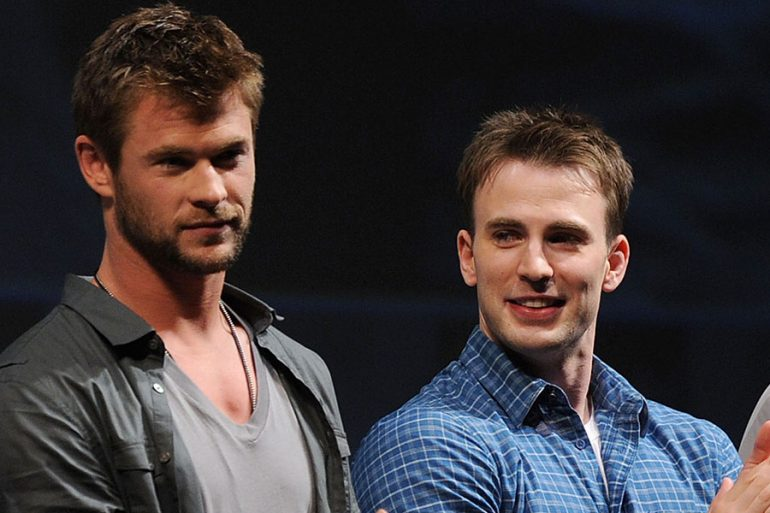 Chris Hemsworth y Chris Evans