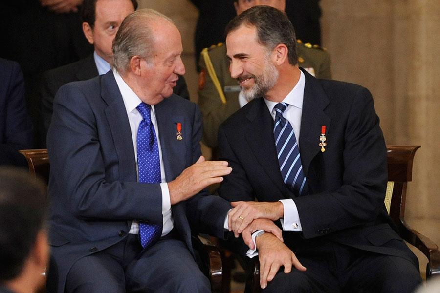 Rey Juan Carlos y Rey Felipe VI