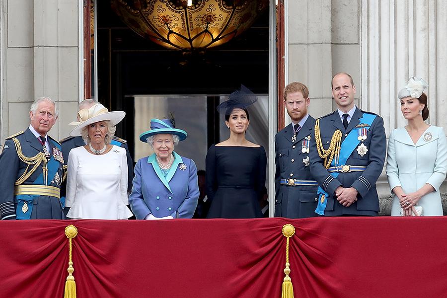 Isabel II, Carlos de Gales, Harry, William