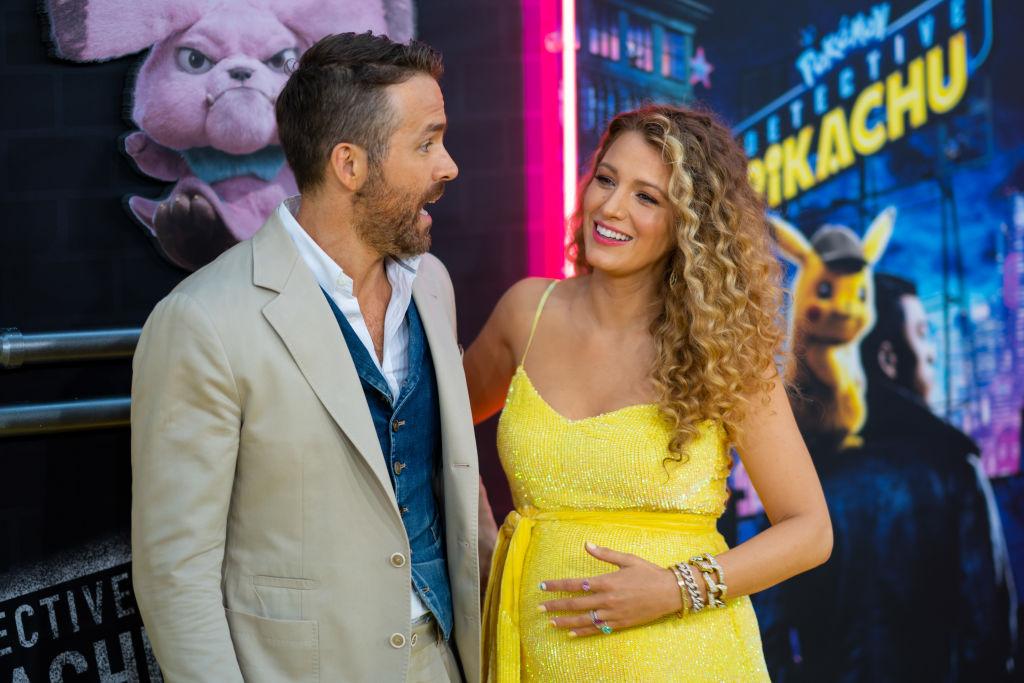Blake Lively y Ryan Reynolds en 'Detective Pikachu'