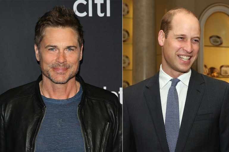 Rob Lowe y príncipe William
