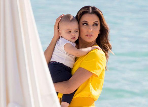 Eva Longoria y Santiago en Cannes