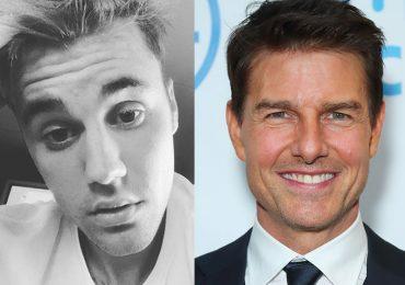 Justin Bieber y Tom Cruise