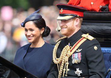 Meghan y Harry en el Trooping the Colour