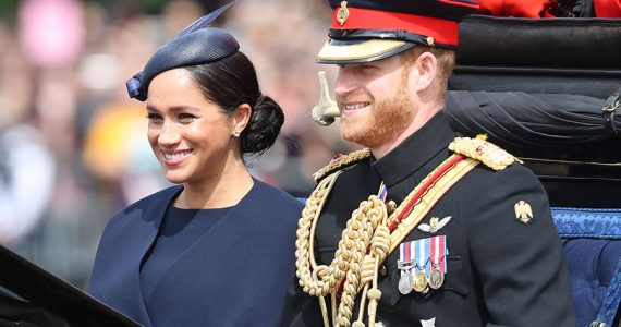 Meghan y Harry en el Trooping the Colour