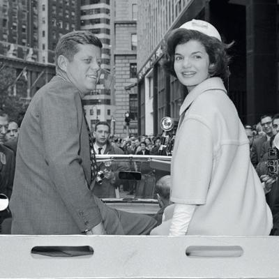Jackie y John F. Kennedy,