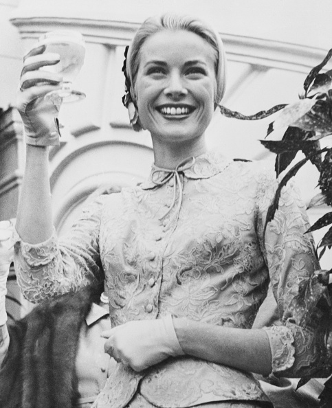 Grace Kelly el día de su boda civil el 20 de abril de 1956. (Foto: Getty Images)