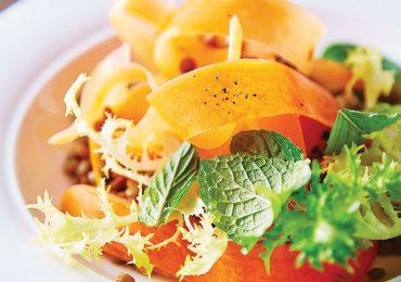 Ensalada de zanahoria con menta y vinagreta de mandarina