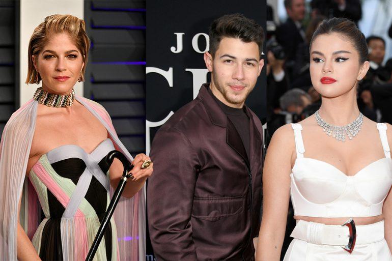 Selma Blair, Nick Jonas, Selena Gomez