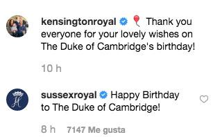 La felicitación de los Sussex a William