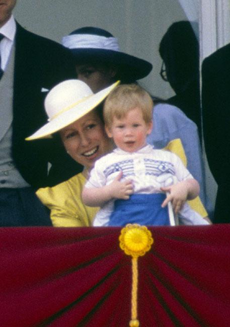 Princesa Ana y Harry en 1986