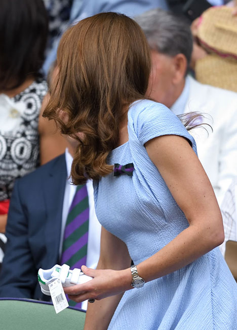 Kate Middleton con Stan Smith en Wimbledon