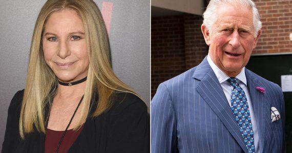 Barbra Streisand y príncipe Carlos