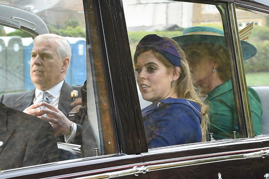 Los duques de York llegaron juntos a la boda de su hija Eugenia.