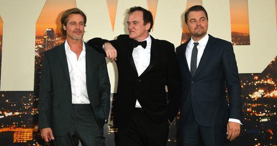Brad Pitt, Quentin Tarantino y Leonardo DiCaprio