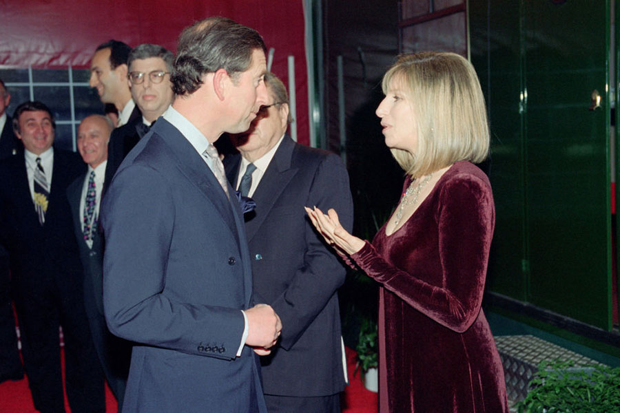 Príncipe Carlos y Barbra Streisand