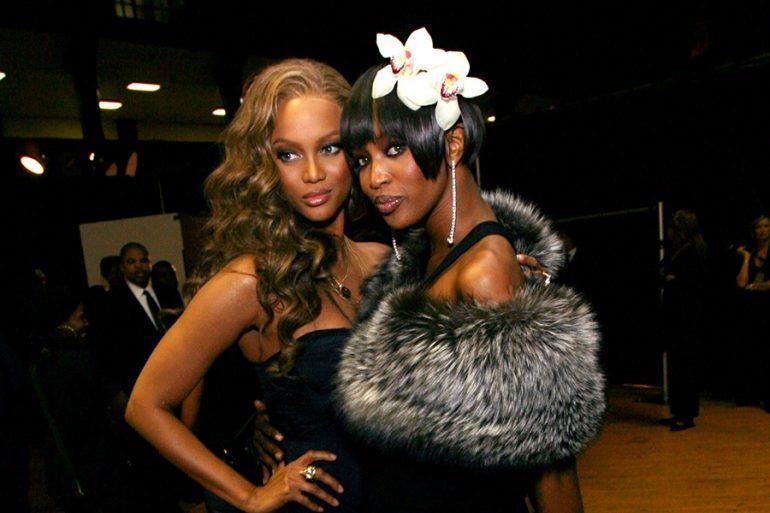 Tyra Banks y Naomi Campbell