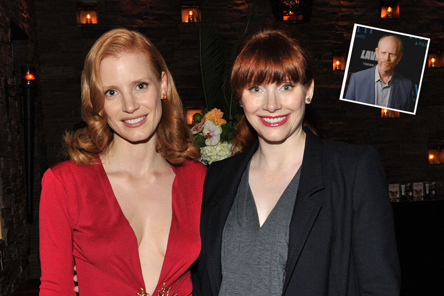 Jessica Chastain, Bryce Dallas y Ron Howard