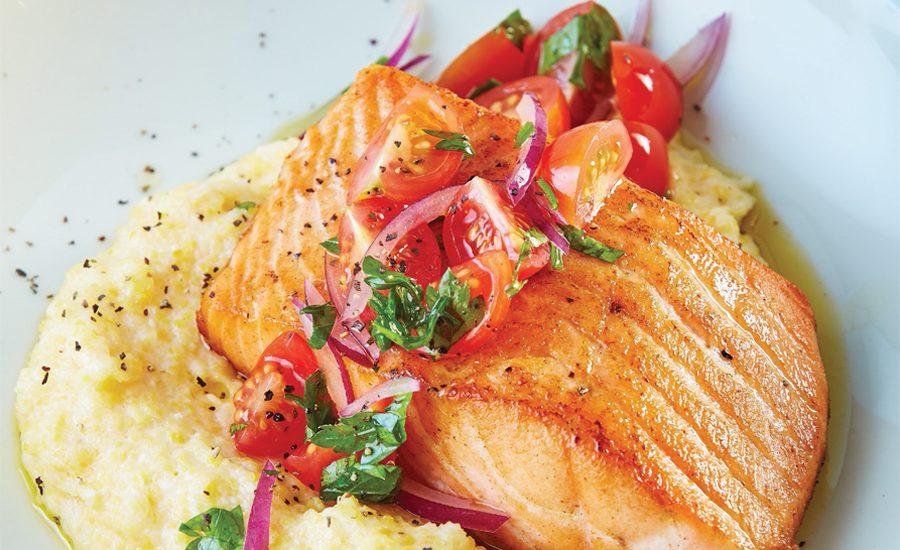 Polenta de salmón