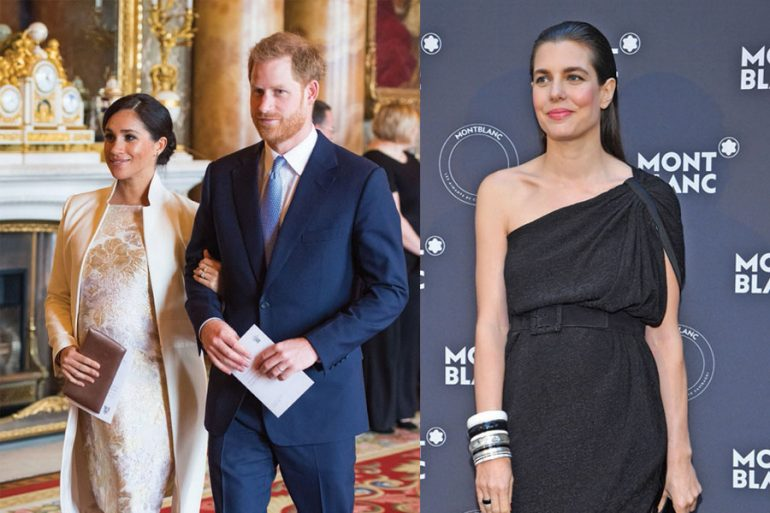 Meghan, Harry y Carlota Casiraghi
