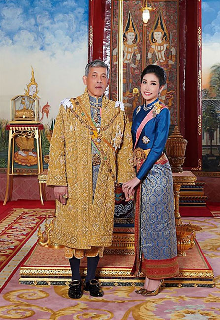 Rey Maha Vajiralongkorn y Sineenat Wongvajirapakdi