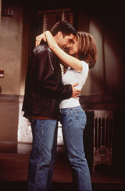 David Schwimmer y Jennifer Aniston