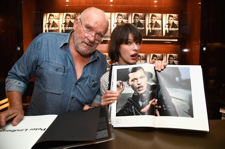 Peter Lindbergh y Milla Jovovich