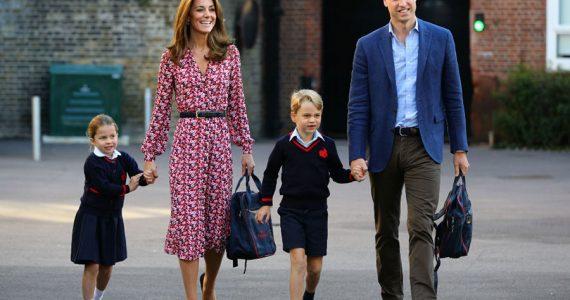Primer día de clases de la princesa Charlotte