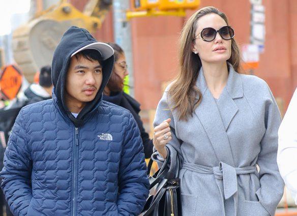 Maddox y Angelina Jolie