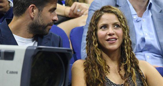 Piqué y Shakira en el US Open