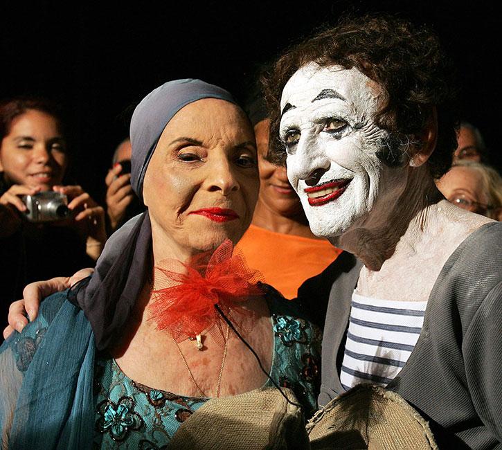 Alicia Alonso y Marcel Marceau