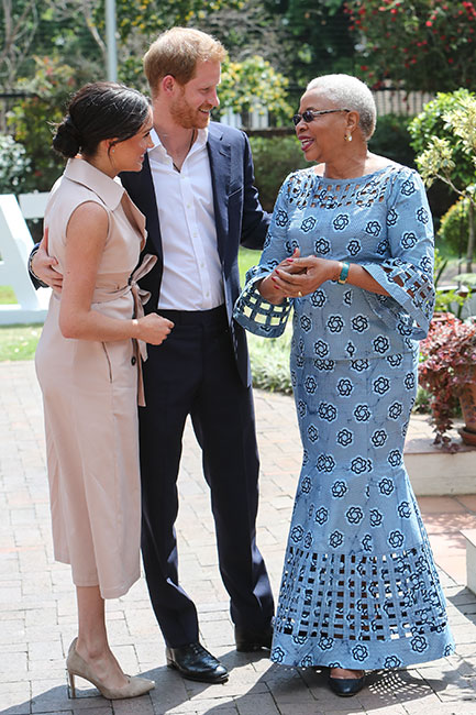 Meghan, Harry y Graça Machel