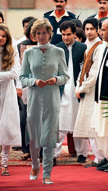 Princesa Diana en Pakistán en 1996.
