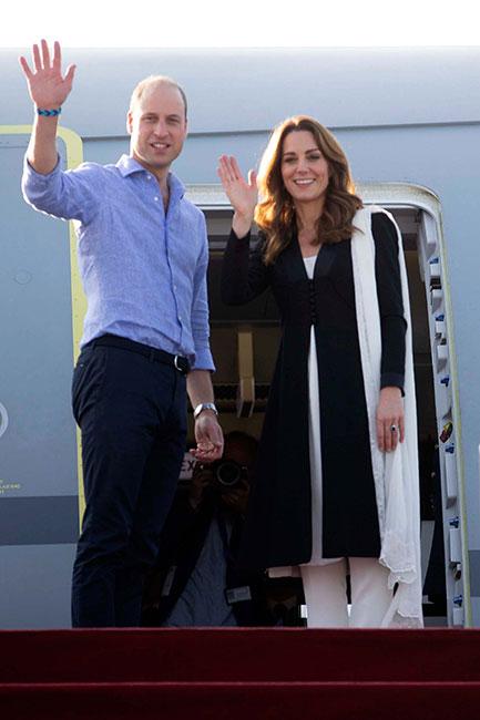 William y Kate se despiden de Pakistán. (Foto: Getty Images)