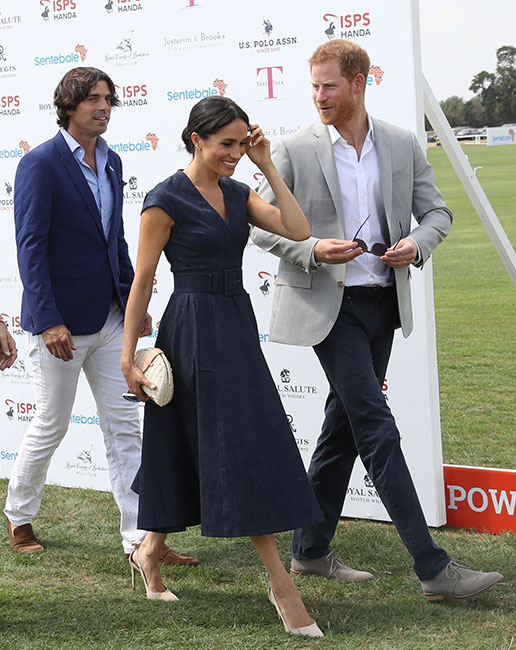 Nacho Figueras y los duques de Sussex. (Foto: Getty Images)