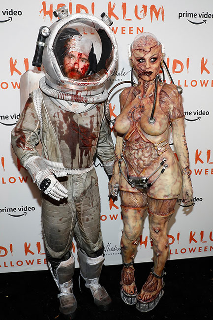 Heidi Klum y Tom Kaulitz en Halloween