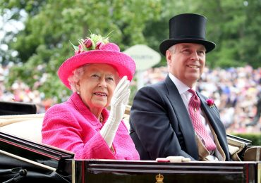 Reina Isabel y príncipe Andrés