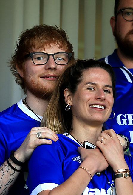 Ed Sheeran y su esposa Cherry Seaborn