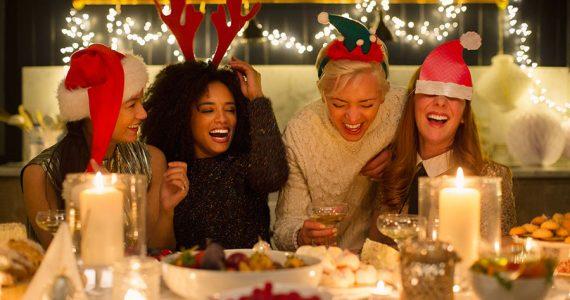 Cena de Navidad entre amigas