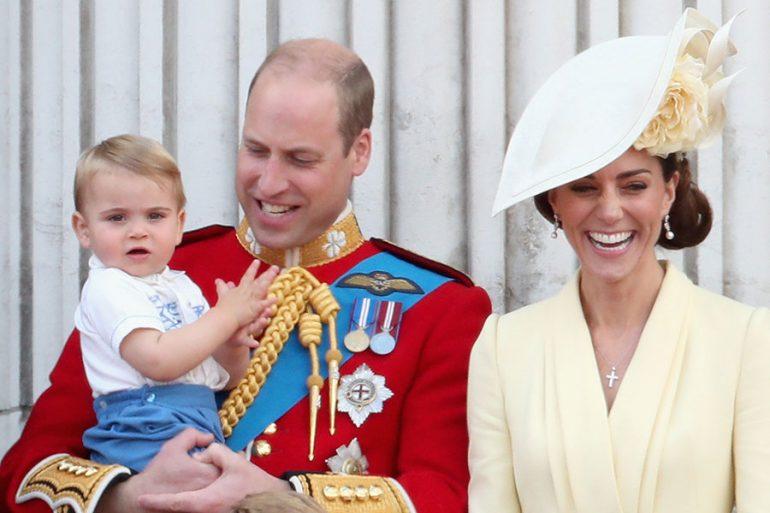 Duques de Cambridge y príncipe Louis